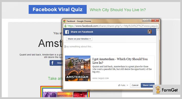 Facebook Viral Quiz PHP Script