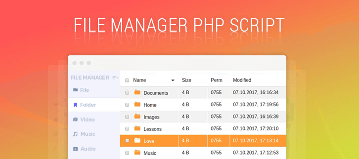 File Manager PHP Script
