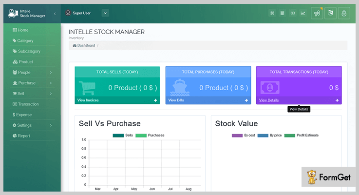 Intelle Stock Manager PHP Script
