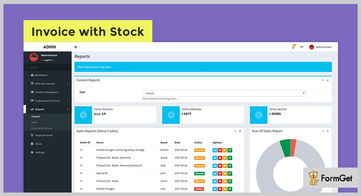 Invoice Stock Manager PHP Script
