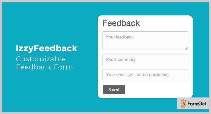 IzzyFeedback Form PHP Script