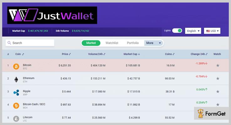Just Wallet eWallet PHP Script