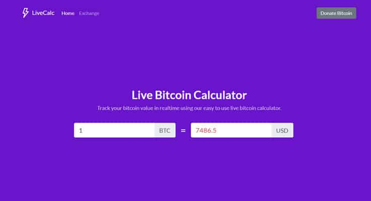 Live Bitcoin Calculator Bitcoin PHP Script