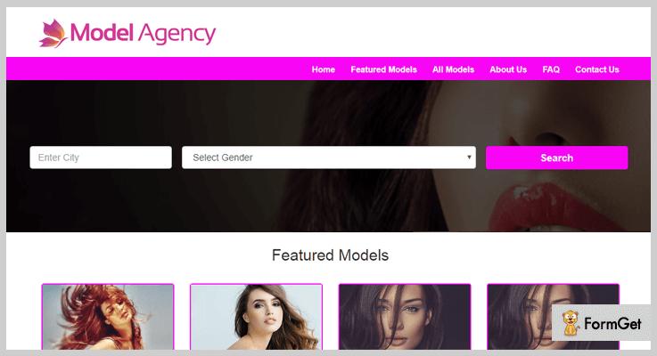 Model Agency Portfolio PHP Script