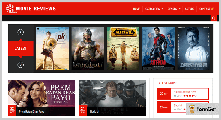Movie Review PHP Script