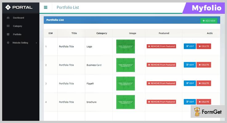 Myfolio Portfolio PHP Script