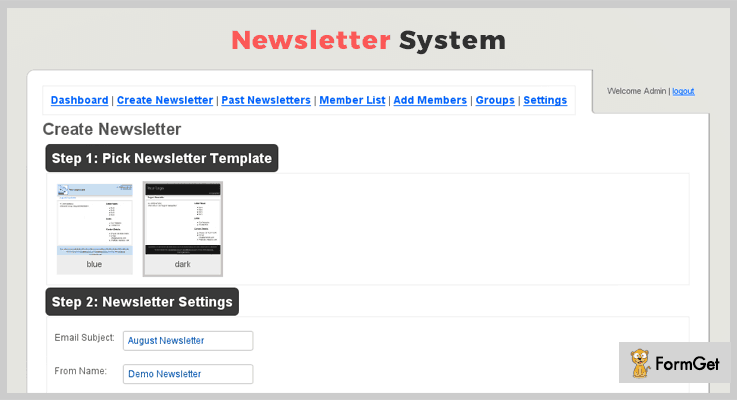 Newsletter System PHP Script