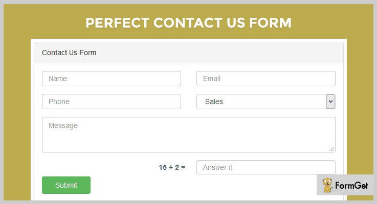 Perfect Contact Us Form Form PHP Script