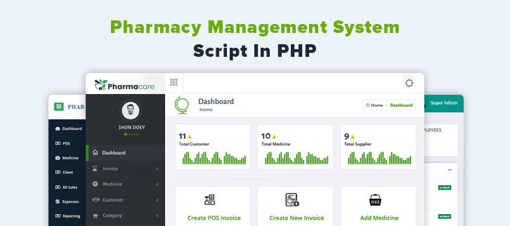 Pharmacy Management System Script In PHP