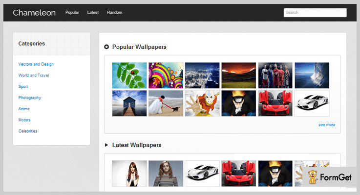 PHP Chameleon Gallery PHP Script