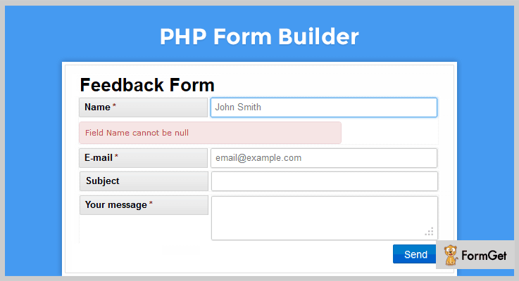 PHP FormBuilder Contact Form PHP Script