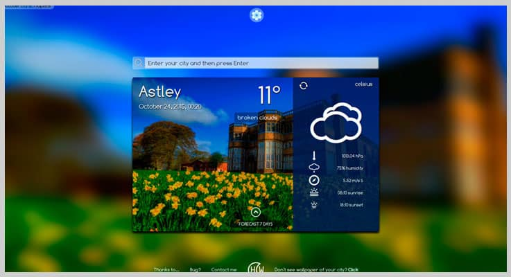 Happy Weather Widget Weather PHP Script