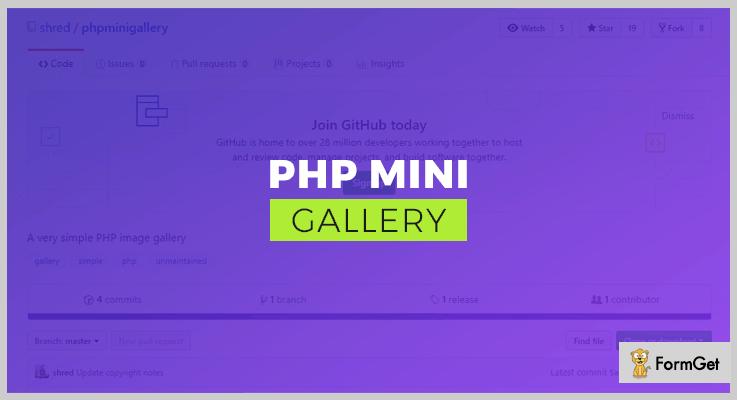 PHP Mini Gallery PHP Script