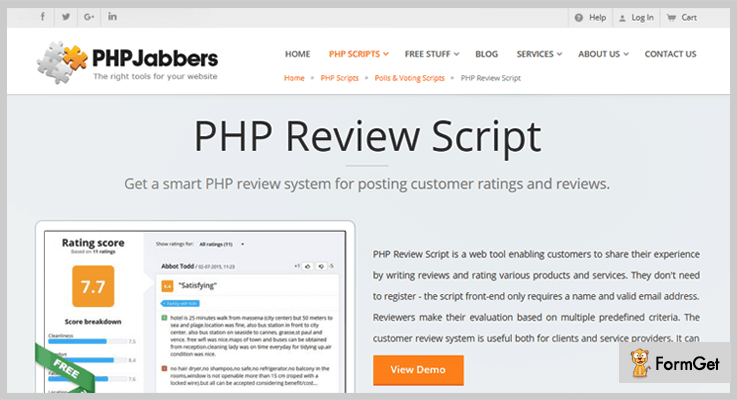 PHP Review PHP Script