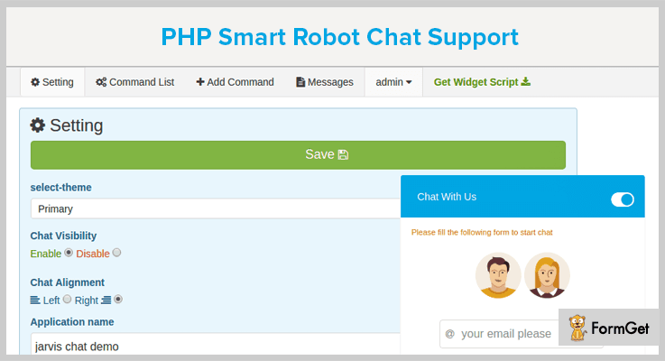 PHP Smart Robot Chat Support Live Chat PHP Script