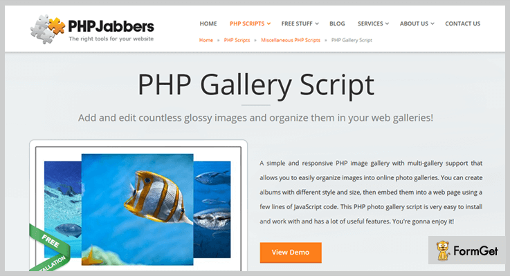 PHPJabbers Gallery PHP Script