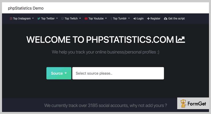 phpStatistics Instagram PHP Script