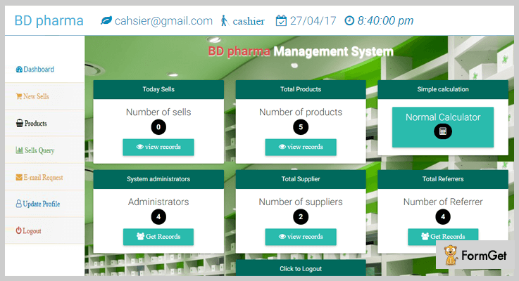 PMS Pharmacy Management System Script In PHP
