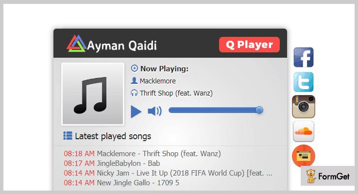 Q Player Online Radio PHP Script