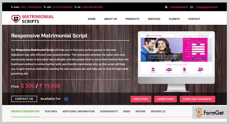 Responsive Matrimonial PHP Script