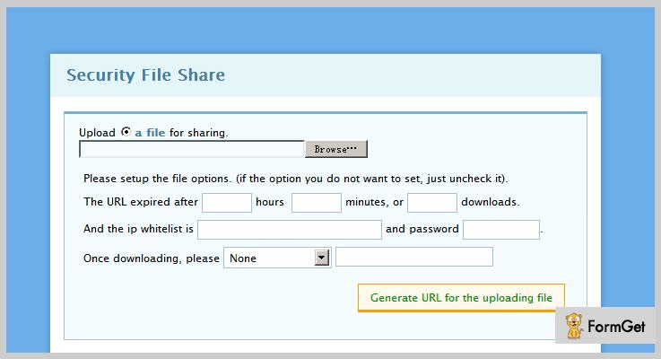 Secure File Sharer File Sharing PHP Script