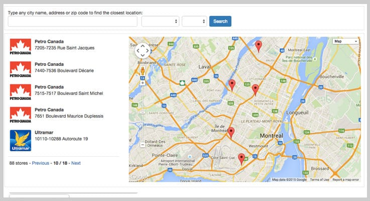 Simple Store Locator PHP Script