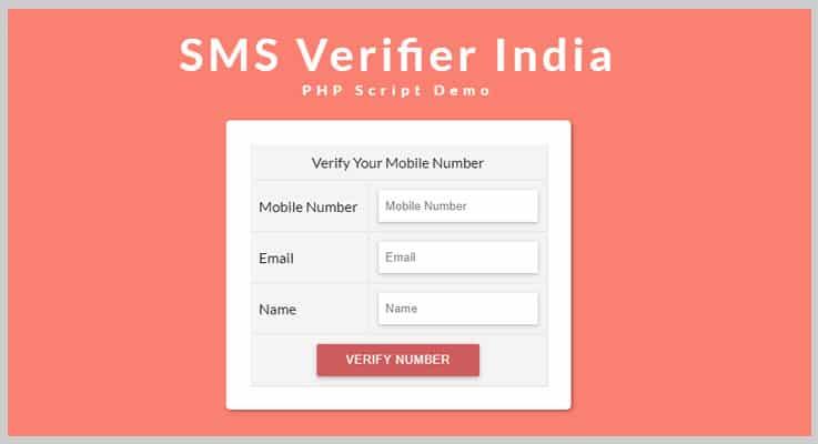SMS Verifier SMS PHP Script