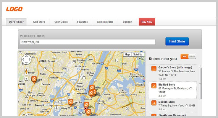 Super Store Finder Store Locator PHP Script