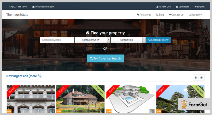 ThemeqxEstate Real Estate PHP Script