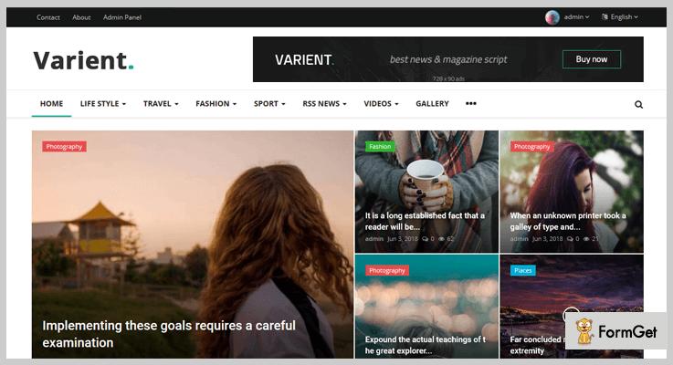 Varient Magazine PHP Script