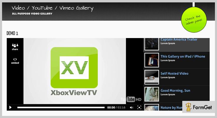 Video Gallery Video Gallery PHP Script
