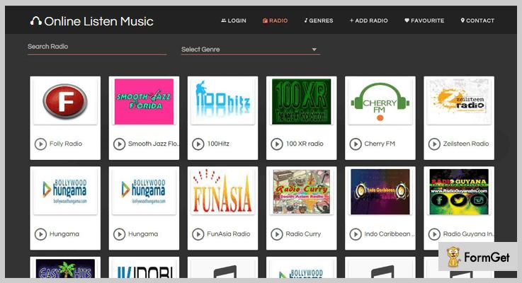 Web Radio Portal Online Radio PHP Script