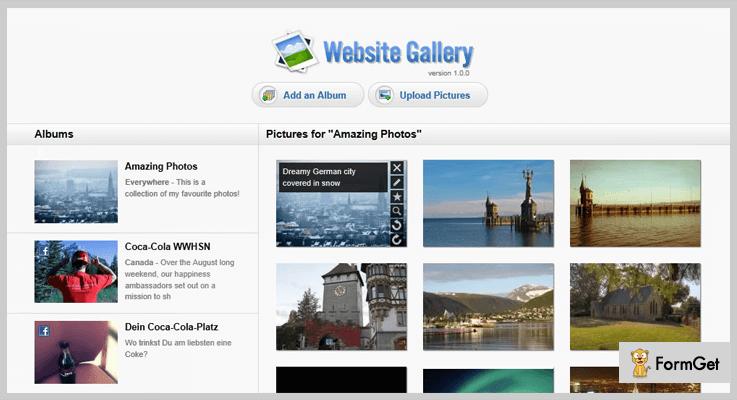 Website Gallery PHP Script
