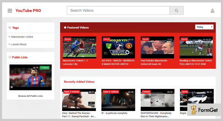 YouTube CMS Pro YouTube PHP Script