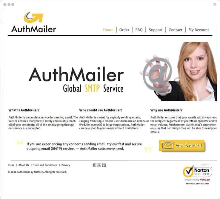 AuthMailer SMTP