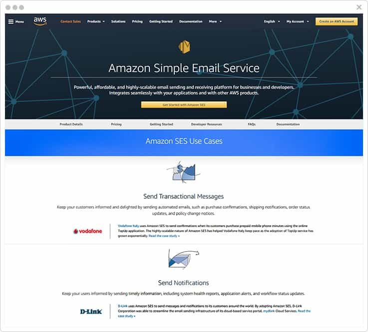 Amazon SES SMTP
