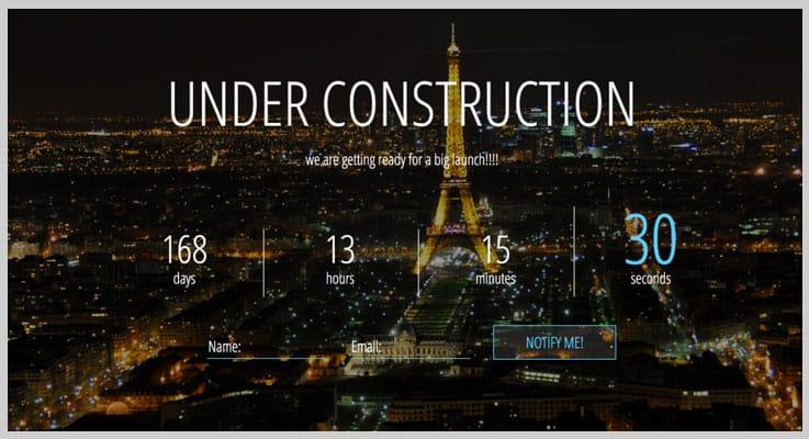 ComingSoon Script Countdown PHP Script