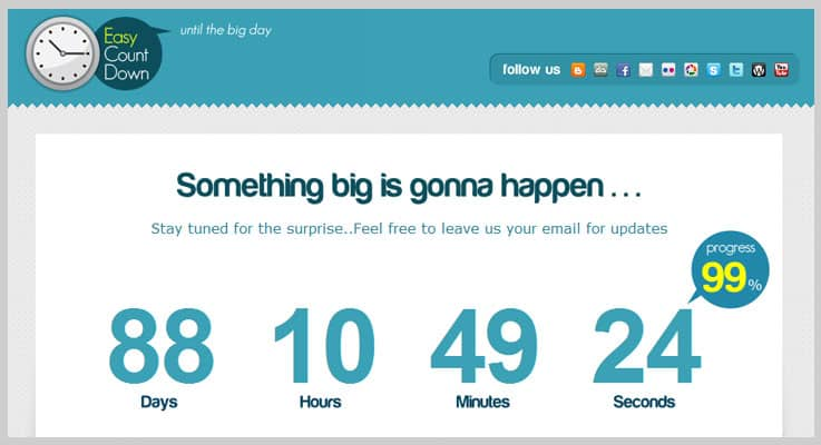 Easy Countdown PHP Script