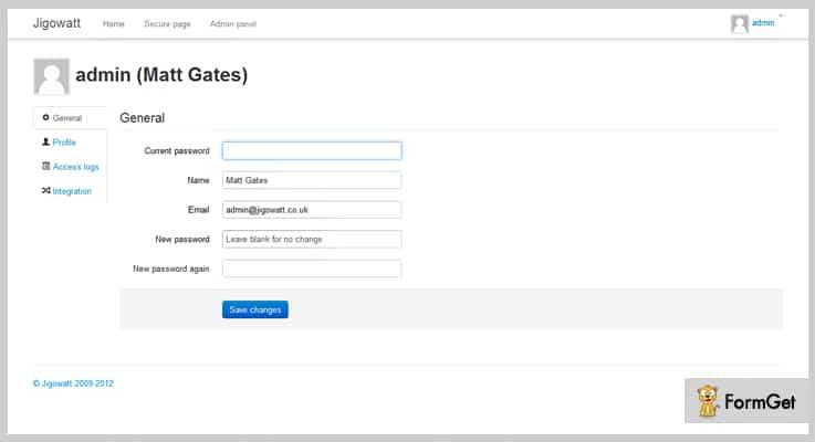PHP Login & User Management