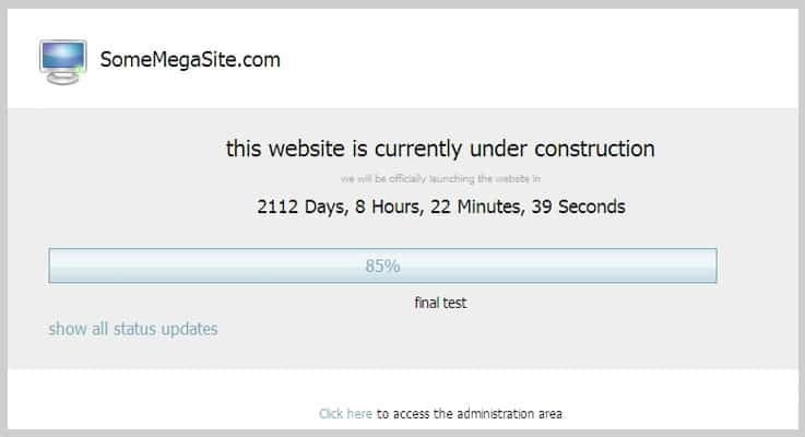 Under Construction Builder Countdown PHP