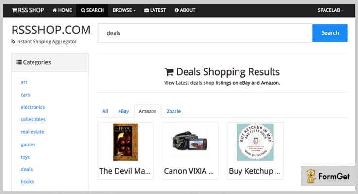 Instant Affiliate Shopping eBay PHP Script