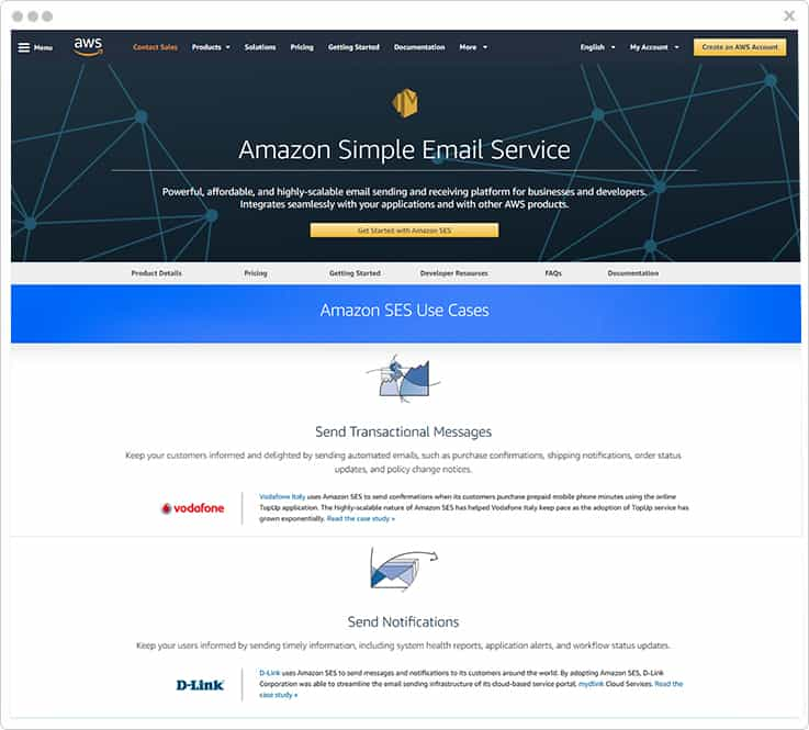 Amazon SES Mandrill Alternative