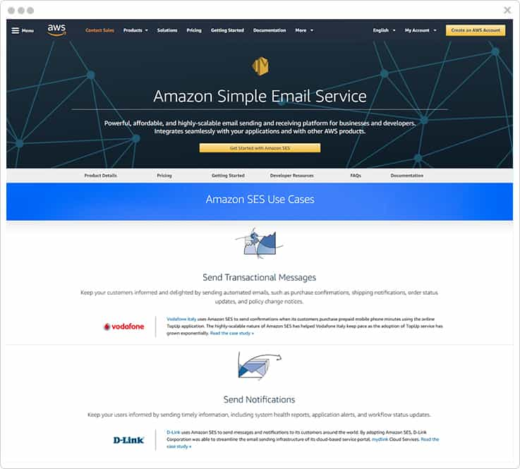 Amazon SES SendGrid Alternatives