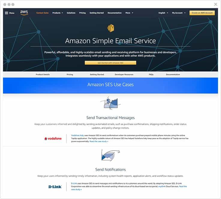 Amazon Simple Email Service Dyn Alternatives