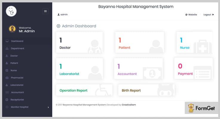 Bayanno Hospital PHP Script