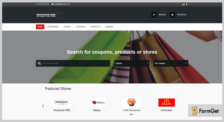 CouponS CMS 6 Coupon PHP Script