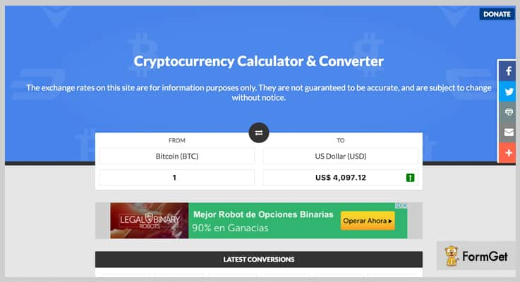 Crypto Currency Converter PHP Currency Converter Script