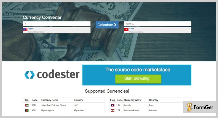 Currency Converter PHP Currency Converter Script