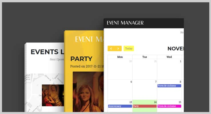 Event Manager PHP Script