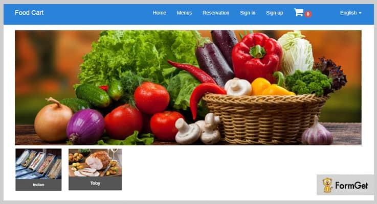 Food Cart Restaurant PHP Script